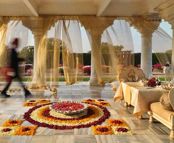 The baradari arches at the Taj Umaid Bhawan Palace, Jodhpur