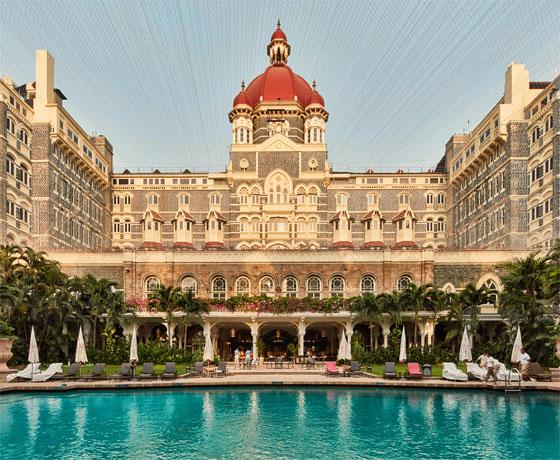 The swimming pool of the Taj Mahal Palace, Mumbai