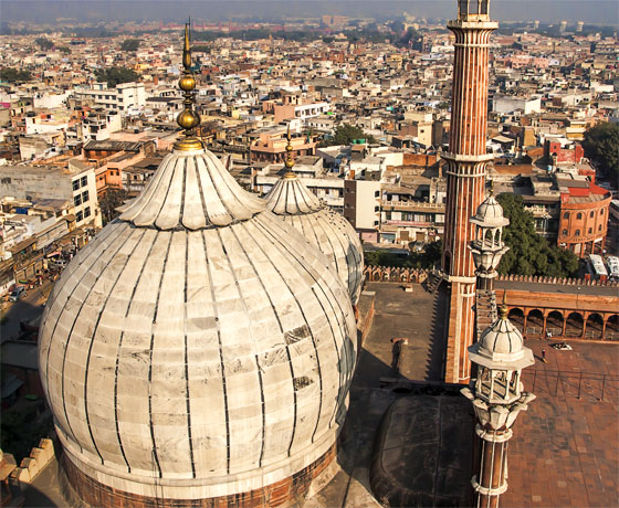 Jama Masjid, the largest mosque in India in the heart of old Delhi