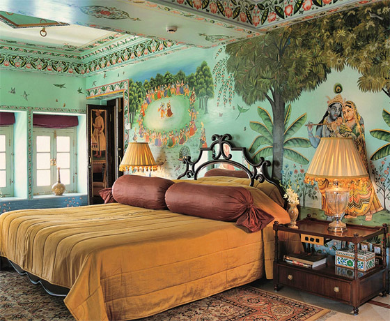 A lake facing room at the Taj Lake Palace, the most romantic hotel in the world