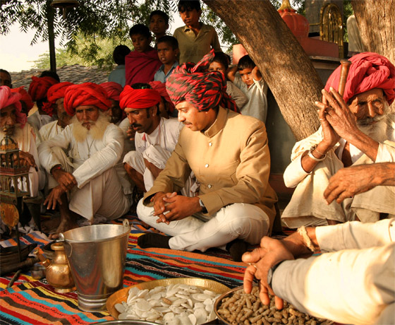 Opium ceremony a must see while on horse safari in the heart of rural Rajasthan
