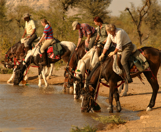 Our expert led private luxury horse safari in the heart of rural Rajasthan