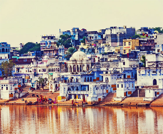 The serene Pushkar lake, a must visit little town in Rajasthan