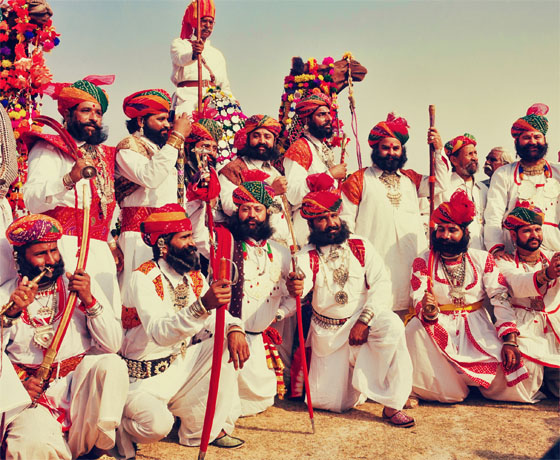 Moustache competition at the Desert Festival in Jaisalmer, in February