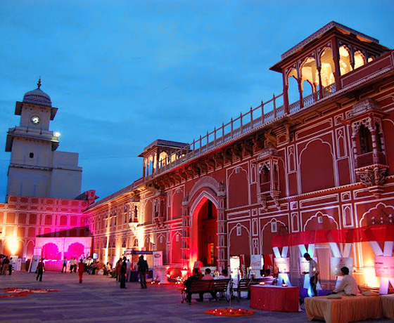 An evening with the Royal family in Jaipur at the City Palace, is an unforgettable creative experience in Rajasthan