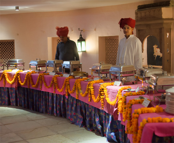Multi-cuising buffet at Skipper County, Jaipur a private venue for a cultural evening in Jaipur